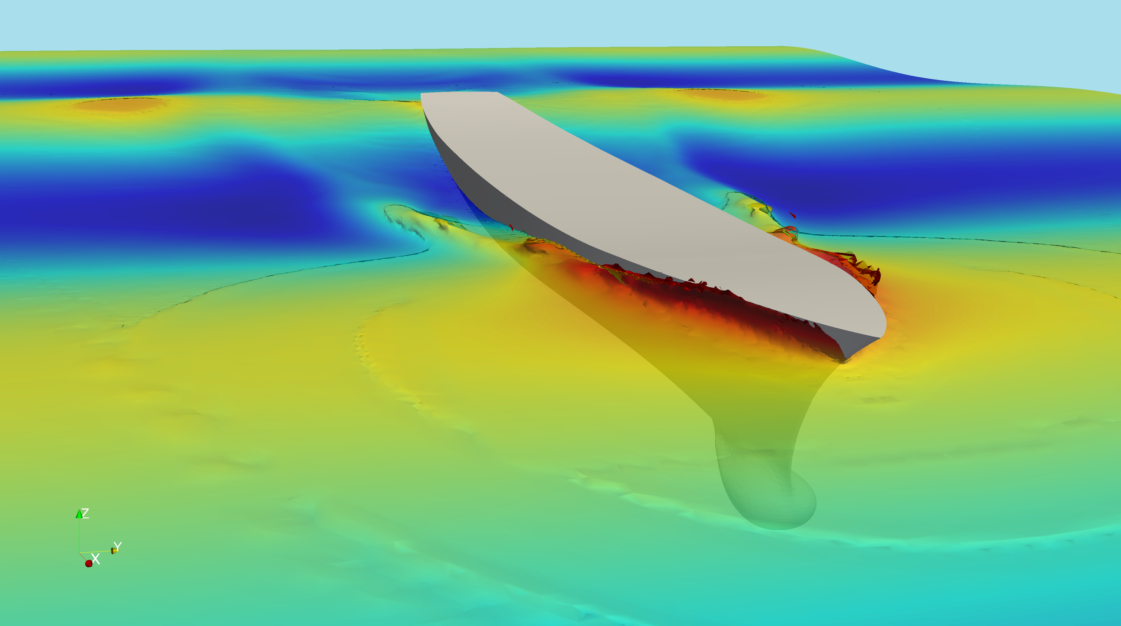 Simulation numérique, expertise, maritime, marine, CFD, boat, ship, simulation, vessel, hull, case study, optimization, build, swell, open source, marineFoam, cargo, sea, ocean, resistance, propeller, design, hydro, stern, wave, numerical simulation, Sea-FD, naval,